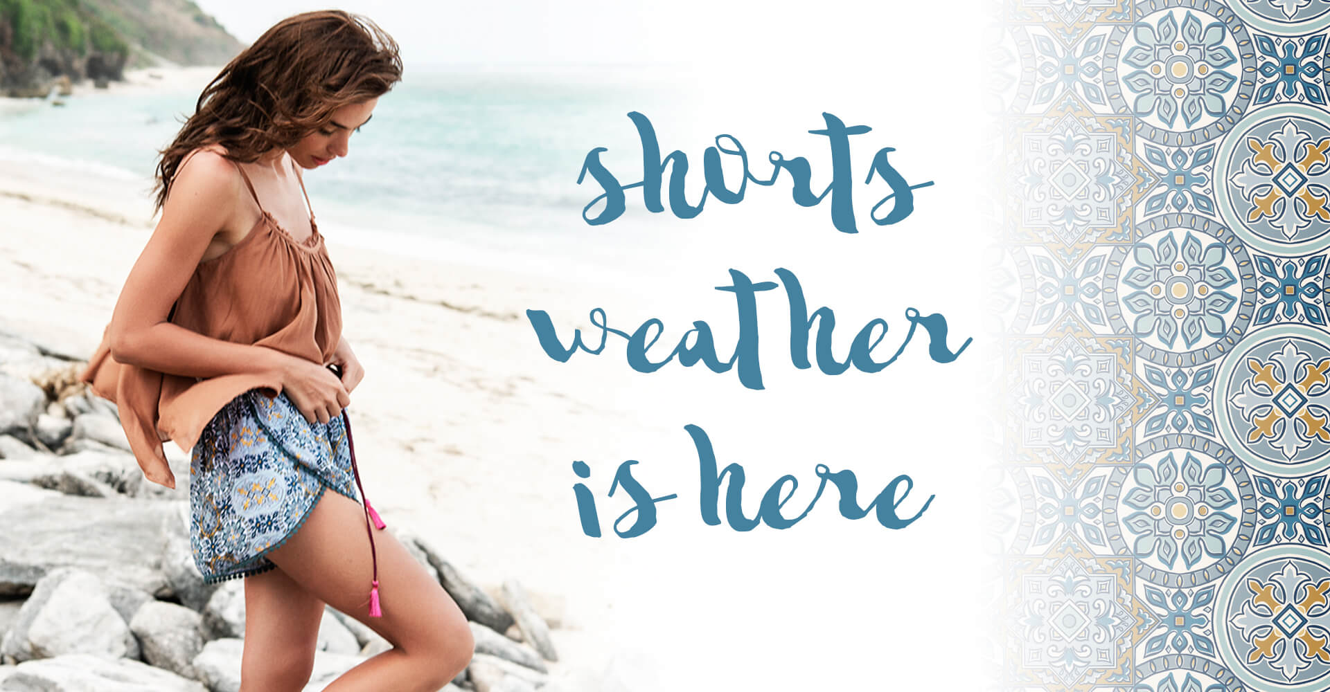 Cobalt and Tawny Shorts Weather is here